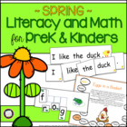 Swing Into Spring: Literacy &amp; Math Activities for PreK and K