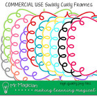 Swirly Curly Frames Commercial Use