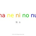 SyllaBits Spanish Na, ne, ni, no, nu Syllable Slideshow Si