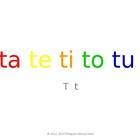 SyllaBits Spanish Ta, te, ti, to, tu Slideshow