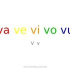 SyllaBits Spanish Va, ve, vi, vo, vu Syllable Slideshow Si