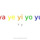 SyllaBits Spanish Ya, ye, yi, yo, yu Syllable Slideshow Si