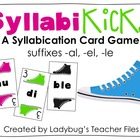 SyllabiKicks: A Syllabication Card Game (suffixes -al, -el, -le)