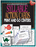 Syllable Action Cards-Print and Go Centers