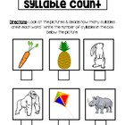 Syllable Counting Page