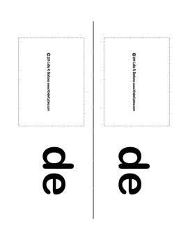 Syllable Mini-books (libritos de silabas para leer) by Kin