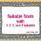 Syllable Picture Sort