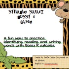 Syllable Safari Bossy R Literacy Center Game
