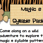 Syllable Safari Magic E syllable Packet