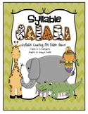 Syllable Safari - Syllable Counting File Folder Game