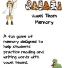 Syllable Safari Vowel Team Memory