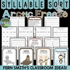 Syllable Sort Arctic Animals Themed Center Game for Common Core