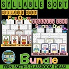 Syllable Sort Bundled Fall and Spring Owls Center Game for