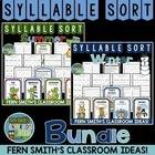 Syllable Sort Bundled Winter and Summer Center Game for Co