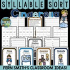 Syllable Sort Cinderella Center Game for Common Core