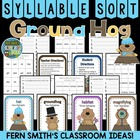 Syllable Sort Groundhog Themed Center Game for Common Core