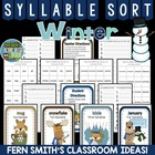 Syllable Sort Winter Animals Center Game for Common Core