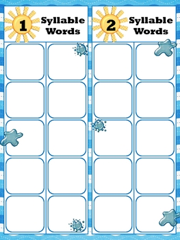 Syllable Splash - Common Core Standard
