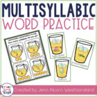 Syllable Squeeze!  Multisyllabic Words for Speech Therapy