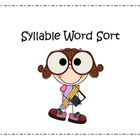 Syllable Word Sort Literacy Center