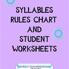 Syllables Chart and Student Worksheets
