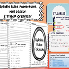 Syllables! Review Rules for Breaking Words Into Syllables