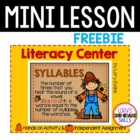 Syllables for Fall - FREEBIE
