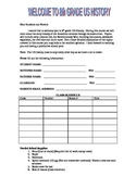 Syllabus Template First day of School
