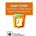 Syllabus for Middle or High School