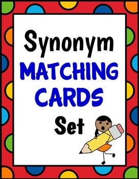 Synonym Matching Cards (Memory/Concentration Game)
