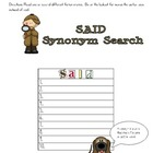 Synonym Search with The Napping House by Audrey Wood