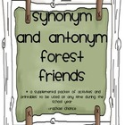 Synonym and Antonym Forest Friends