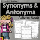 Synonyms and Antonyms Combo Pack