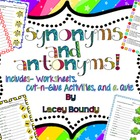 Synonym and Antonym activities and worksheets!