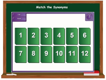 Synonyms, Antonyms, Homonyms, and Homographs on the SMARTboard