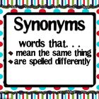 Synonyms, Antonyms, &amp; Homophones Galore