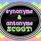 Synonyms & Antonyms SCOOT! (task cards/review game) w/ 2 Posters