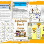 Synonyms Board Game Reading Station Center Activity