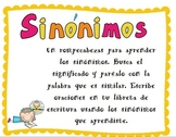Synonyms Puzzle in Spanish