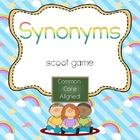 Synonyms Scoot- Common Core Aligned