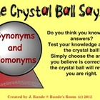 Synonyms and Homonyms - The Crystal Ball Says ...