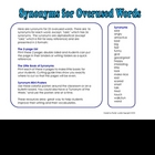 Synonyms for 23 Overused Words, 3 Formats for Easy Reference