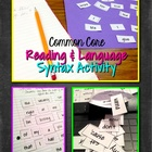 Syntax Song Lyric and Poetry Analysis Activities