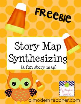 Candy Corn Synthesizing Story Map FREE