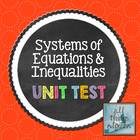 Systems of Equations & Inequalities - Unit Test
