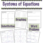 Systems of Equations - Substitution, Graphing, &amp; Word Problems