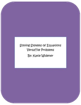 Systems of Equations VersaTile Bundle