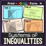 Systems of Inequalities Task Cards (with answer key)