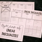 Systems of Linear Inequalities (Guided Notes)