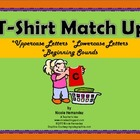 T-Shirt Match Up Cards!-Uppercase and Lowercase Letters, B